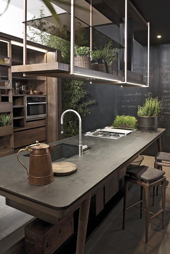chalk-board-kitchen-with-plants
