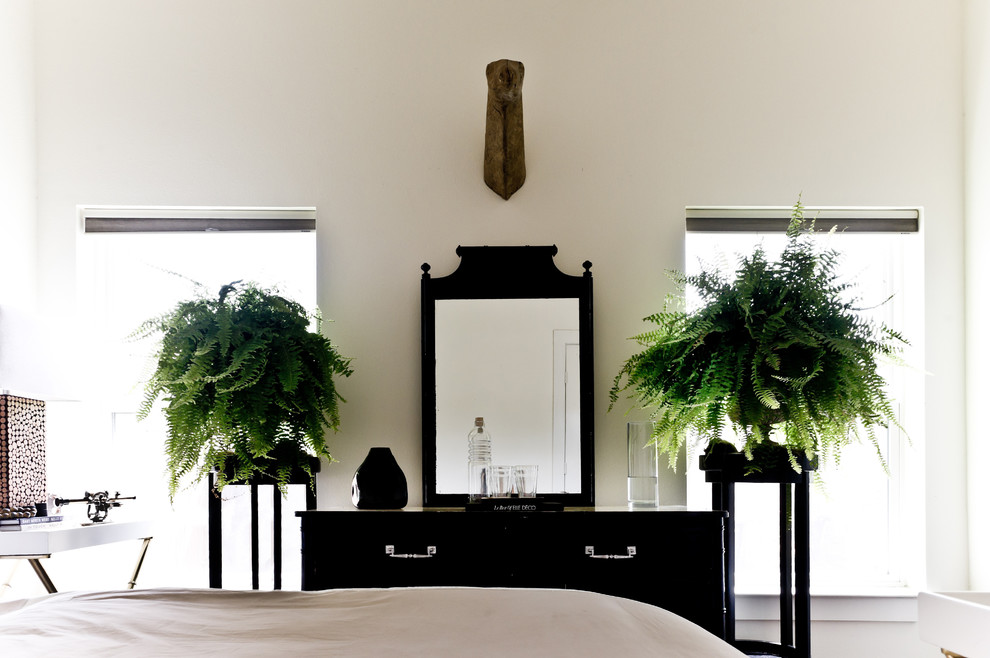 plant-stands-outdoor-bedroom-victorian-with-black-and-white-chest-of-drawers-dresser-ferns-house-plants-mirror-neutral